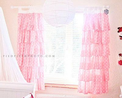 Would Be So Cute In A Little Girls Room! Pink Polka Dot Ruffled Curtains By  PaulaAndErika On Etsy!