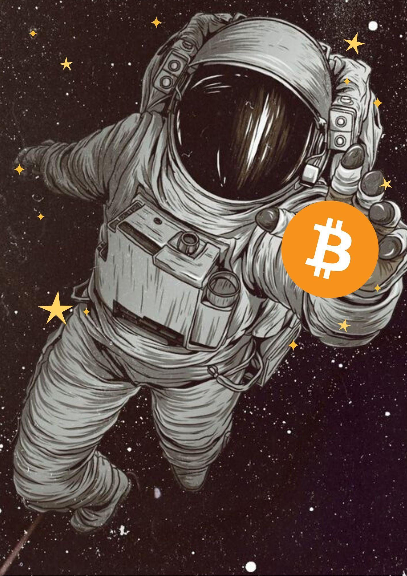 bitcoin halving en 2020 Arte de galaxia, Astronautas