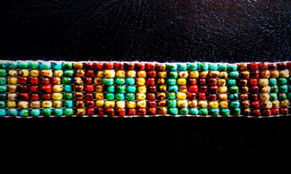 Bracelet  Beautiful Handmade loom beaded bracelet by saratafuri, $20.00