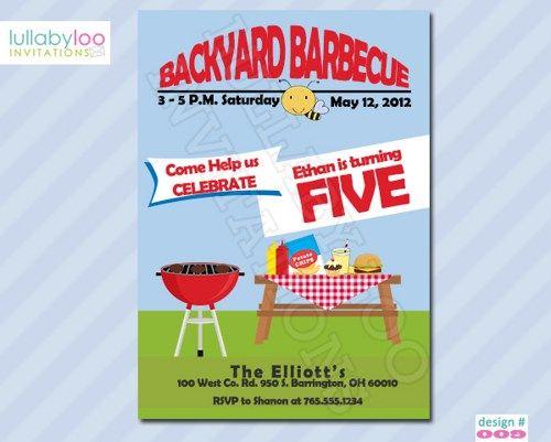 Cool Free Birthday Invitations Templates Kids Free Printable - bbq invitation template