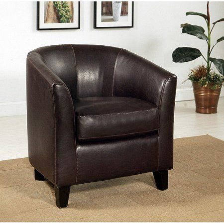 Cambridge Faux Leather Club Chair, Brown