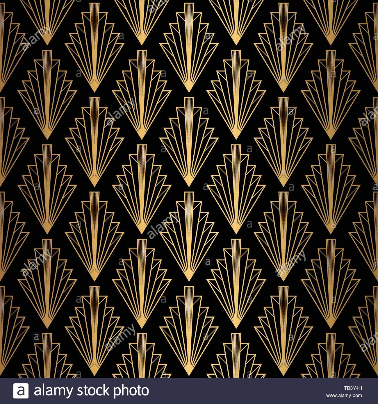 Download This Stock Vector Art Deco Pattern Seamless Black And Gold Background Tb3y4h From Alamy Gold Art Deco Pattern Art Deco Pattern Art Deco Wallpaper