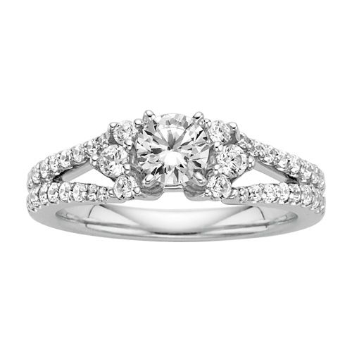 fred meyer jewelers 1 ct tw diamond engagement ring. Black Bedroom Furniture Sets. Home Design Ideas