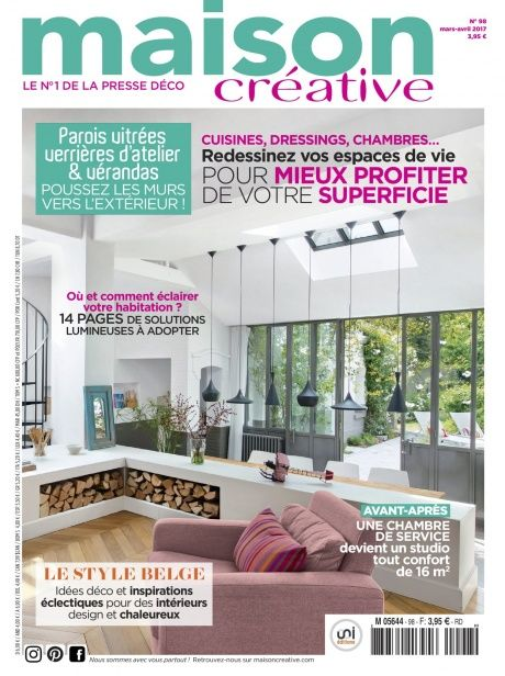 Découvrez le numéro 98 de maison créative daté mars avril 2017 conseils