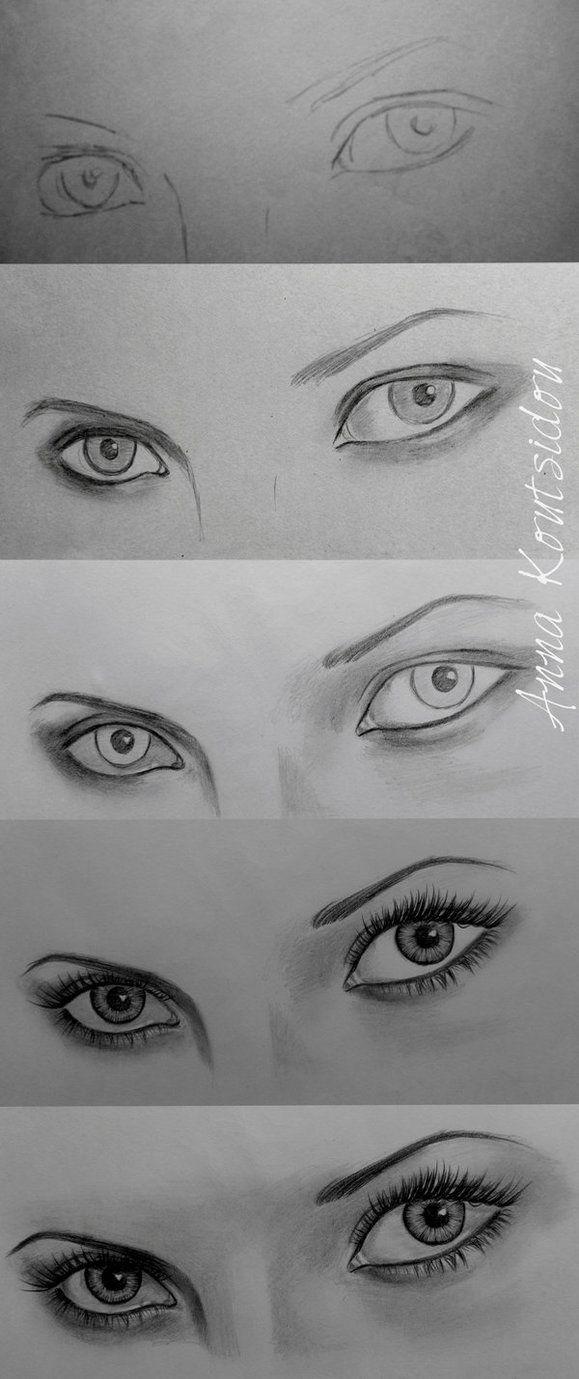 Eyes Tutorial Eye Drawing Pencil Drawings Pencil Drawing Tutorials