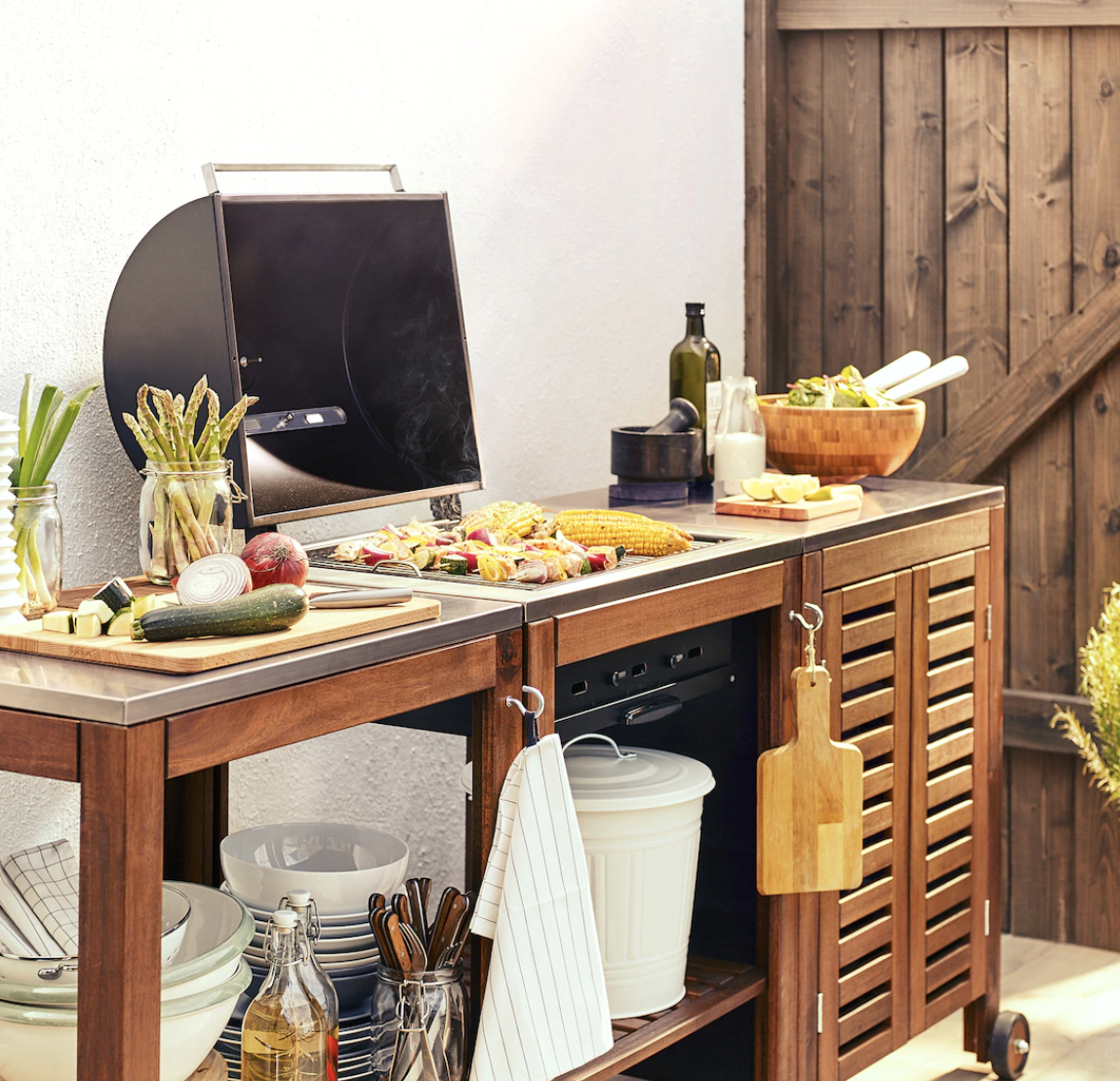 Ikea Outdoor Kitchen Island with a