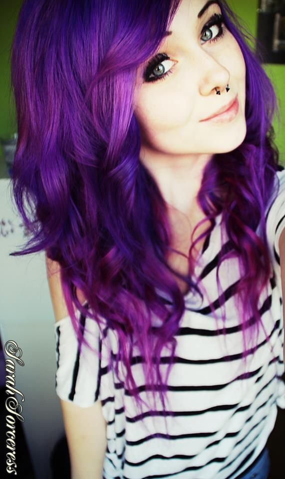 How To Dye Hair Crazy Colors With Images Hair Styles Purple