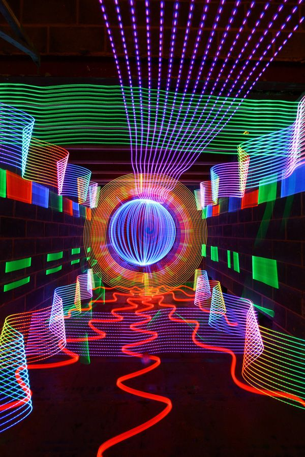 Colorful Light Art Created Using No Digital Manipulation