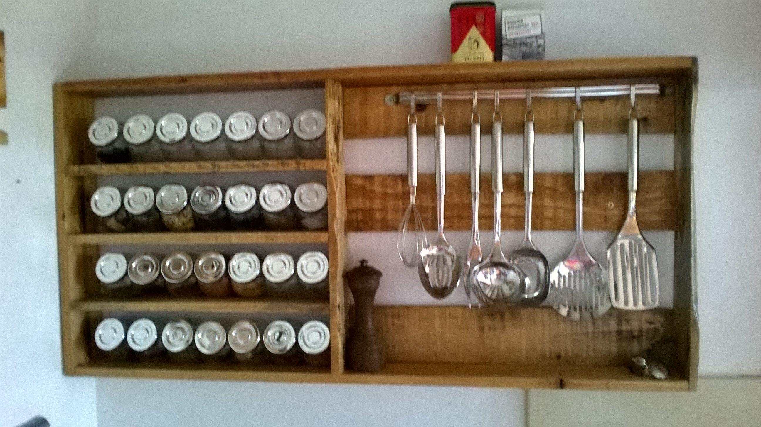Especiero reciclado de palets | En casa | Pinterest | Wood pallets ...