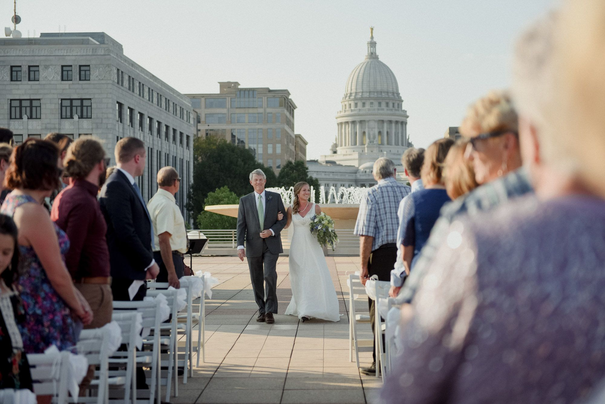 Monona Terrace Rooftop Wedding Madison Wisconsin Wedding Rooftop Wedding Wisconsin Wedding