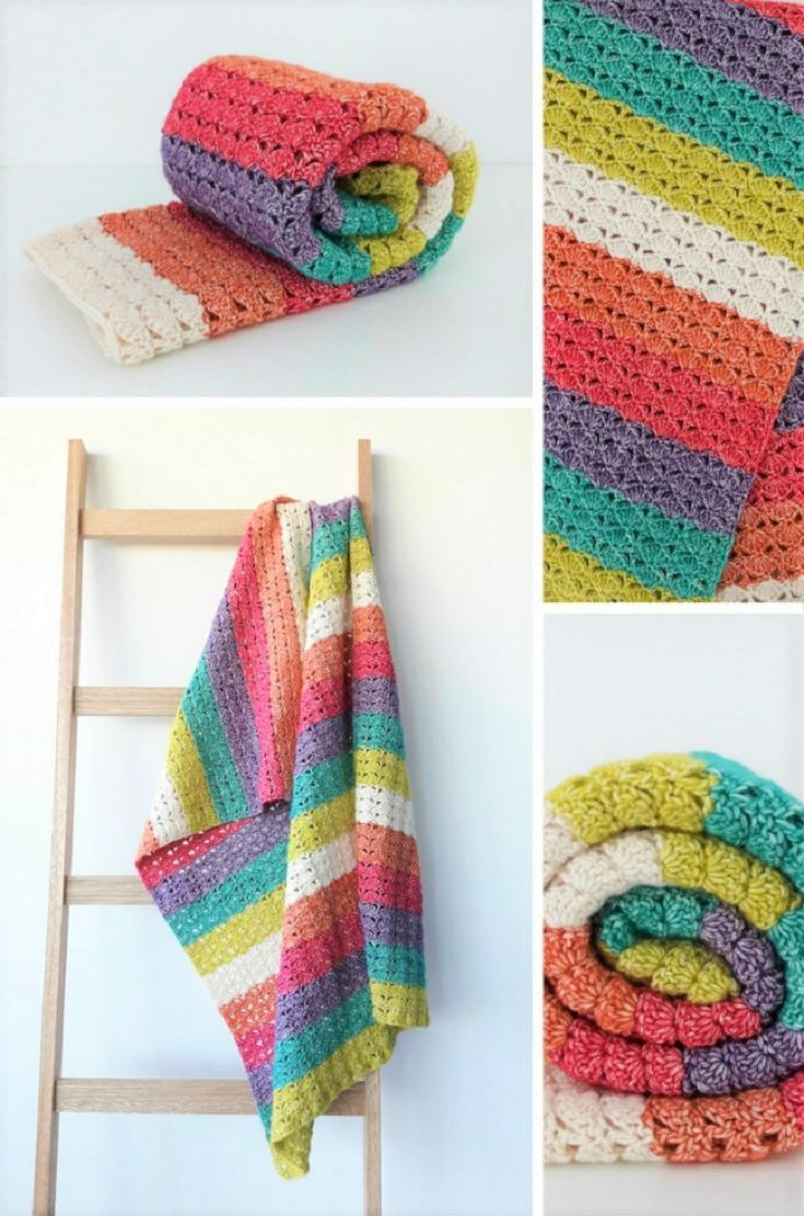 New crochet pattern: Sea Shell Blanket #crochetblankets | Knitting ...
