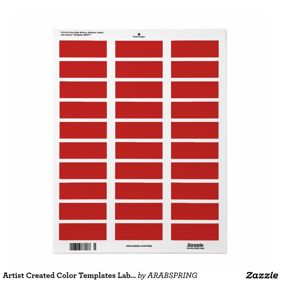 Artist Created Color Templates Labels Stickers | Label stickers ...