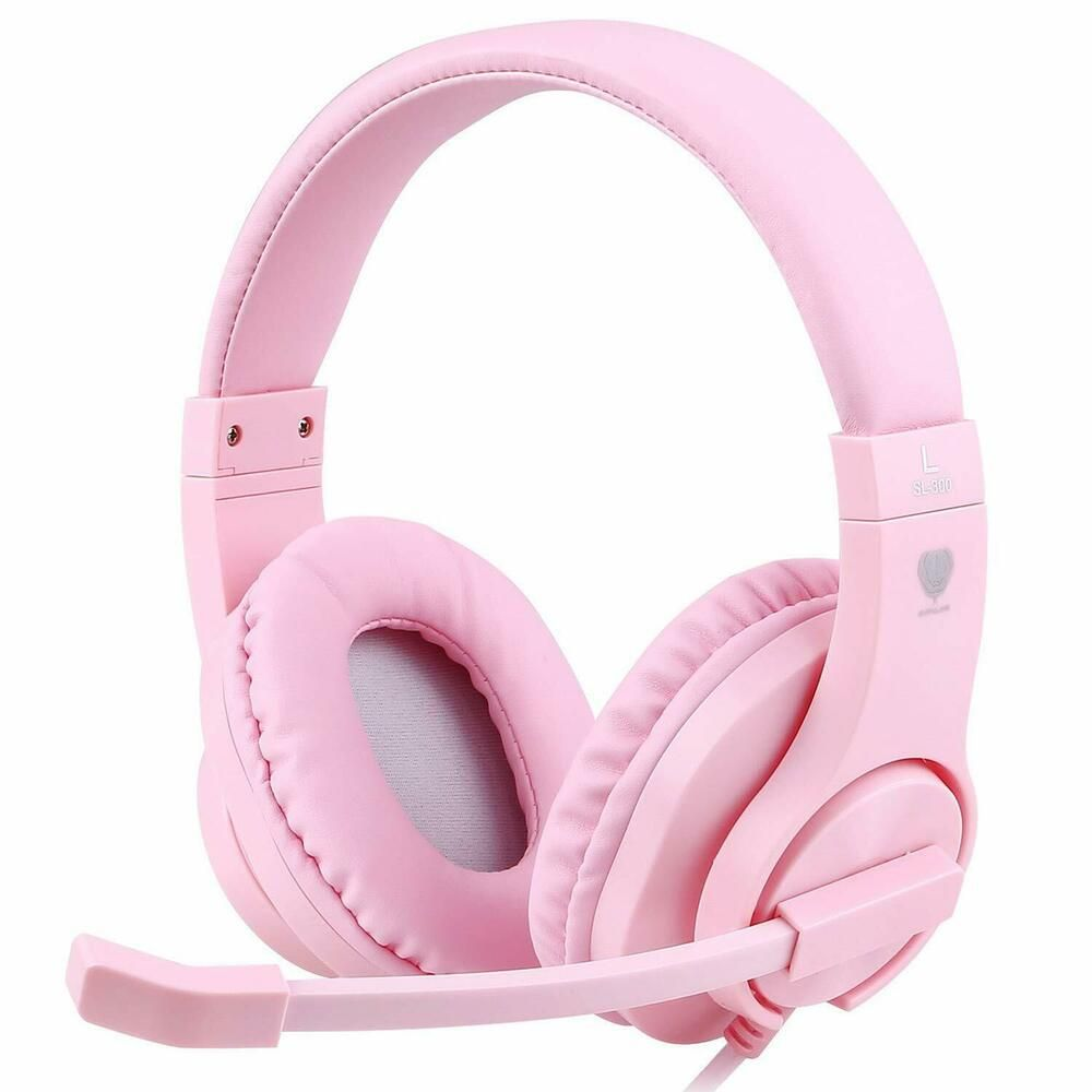 Pink Gaming Headset Headphone Mic For Girls Ps4 Nintendo Xbox One Stereo Bass Nintendosw Fones De Ouvido Sem Fio Fones De Ouvido Fones De Ouvido Com Microfone