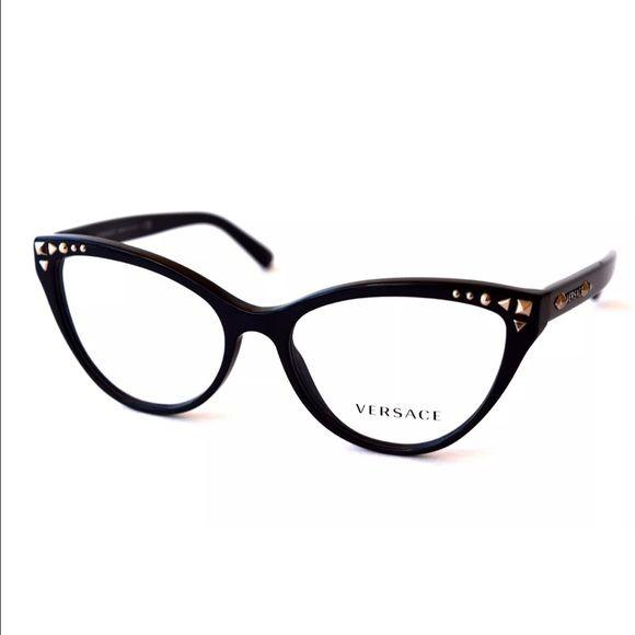 e1b485971f88 Versace Women s Eyeglasses Black Optical Frame New Versace Women s Eyeglasses  Black Optical Frame New with Case