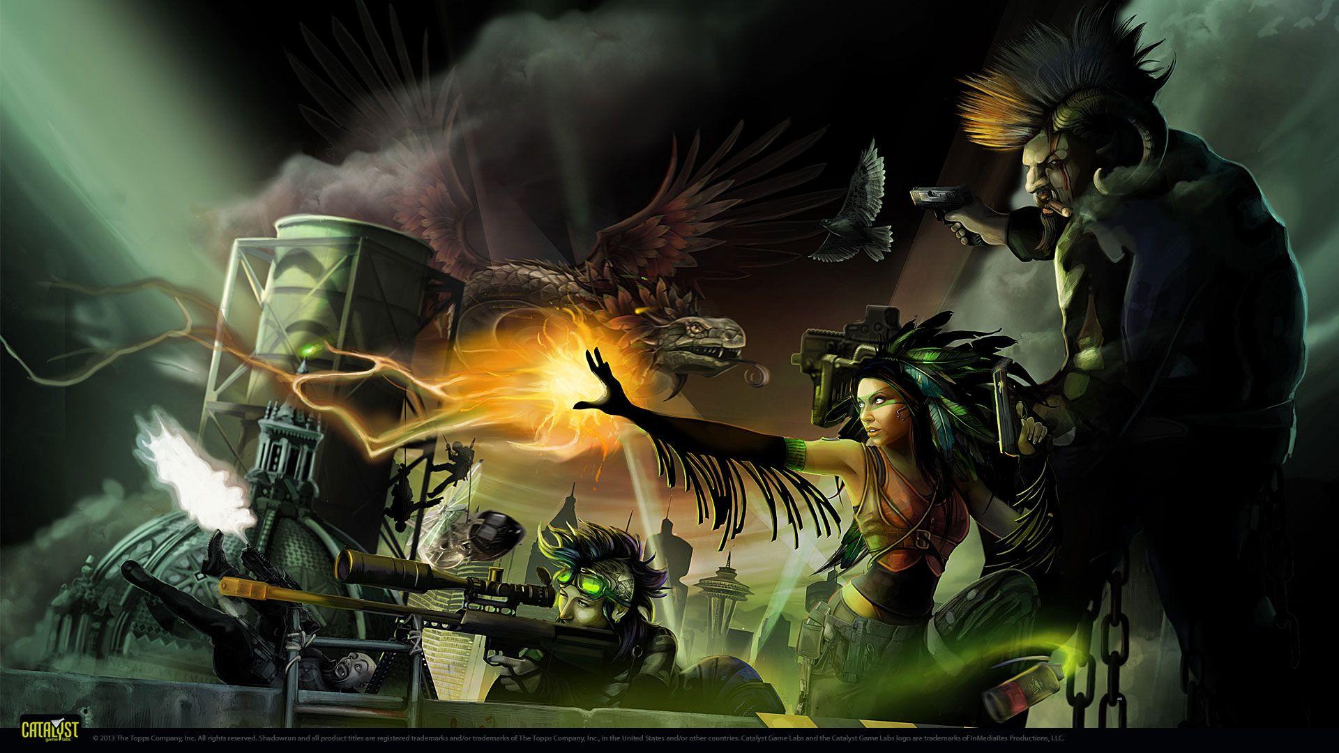Wallpapers Shadowrun 5 Shadowrun Fantasy Cyberpunk