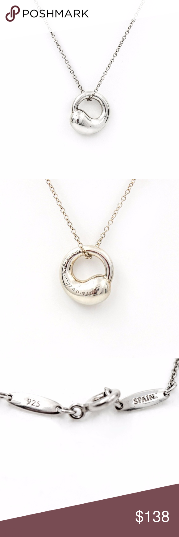 Tiffany co elsa peretti eternal circle necklace elsa peretti eternal circle necklace tiffany co elsa peretti small eternal circle pendant on chain in sterling silver length 16 guaranteed authentic aloadofball Images