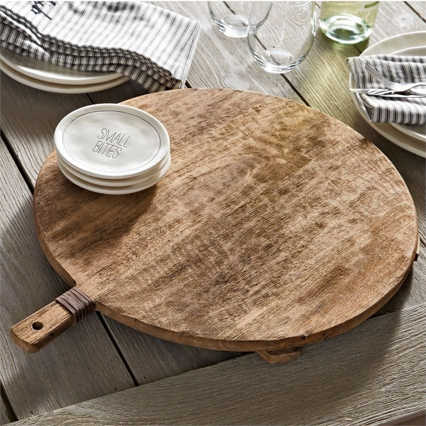 Rustic Farmhouse Style Oblong Wood Cheese Board Riser