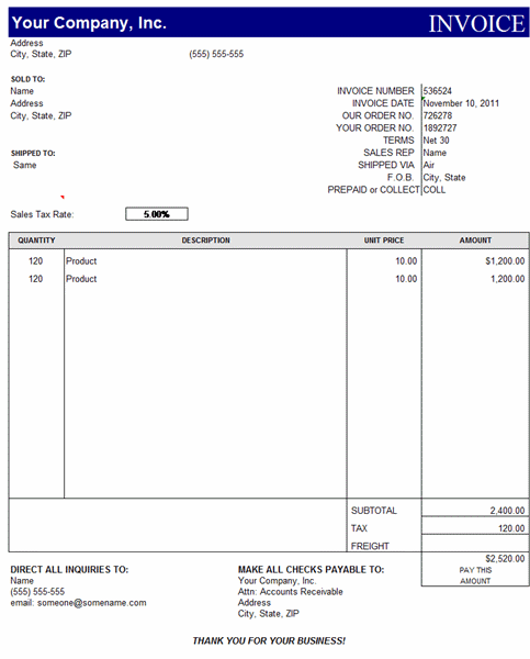 Basic Invoice  Templates  Invoice    Template