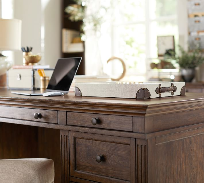"""Livingston 75"""" Executive Desk with Drawers in 2020 Desk"""