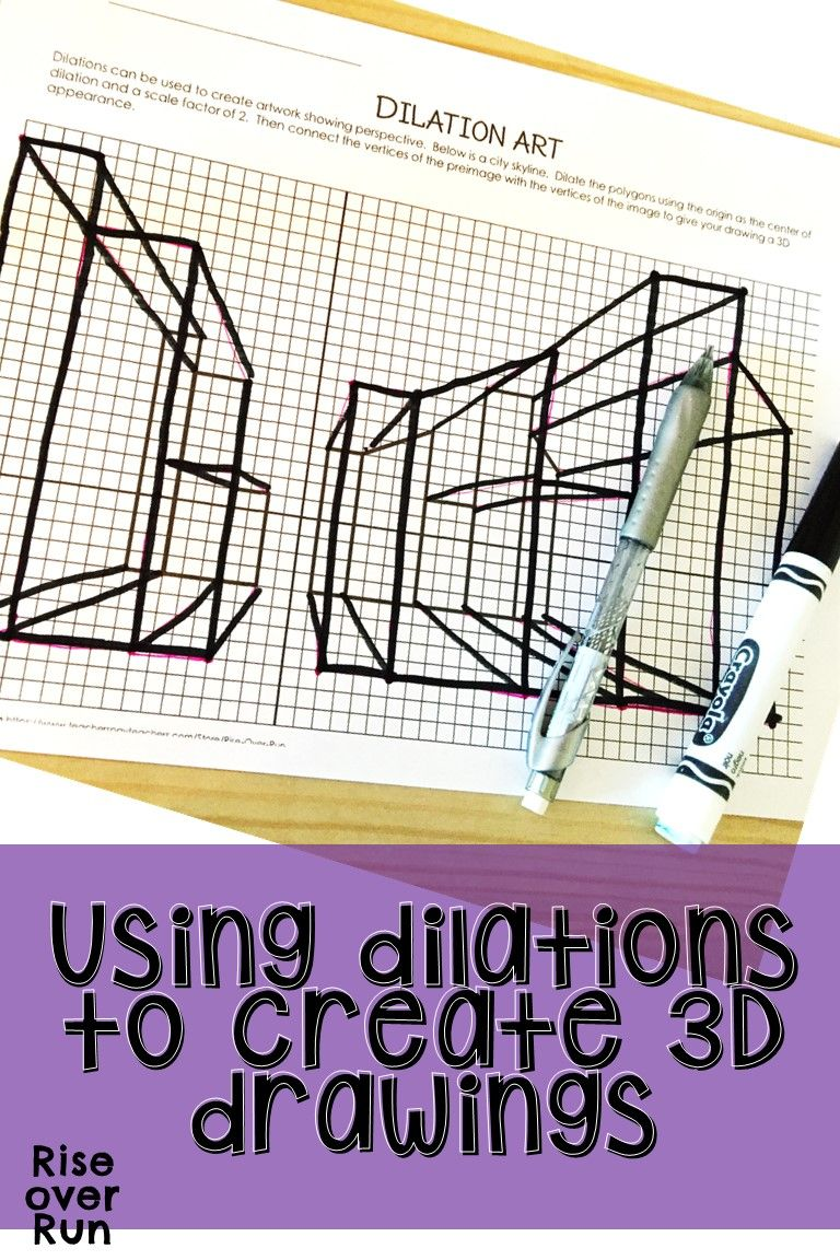 hight resolution of Dilation Activity Creating 3-D Perspective Art   8th grade math