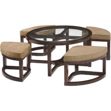 Cambria Coffee Table With Stools   JCPenney