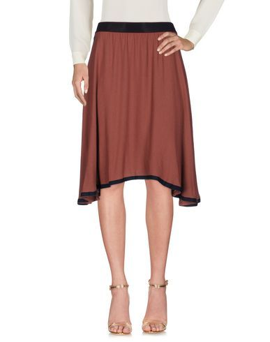MANILA GRACE Women's Knee length skirt Brown 6 US