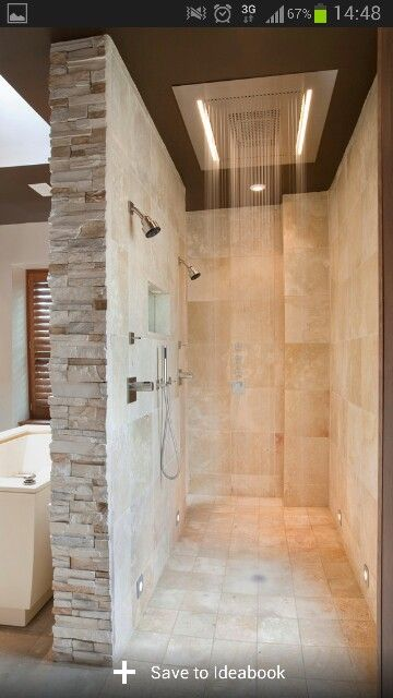 Walk in shower lighting Bathroom Shower Love The Walk In Shower The Lighting For It And Shower Head Tub On Other Side Looks Like Good Use Of Space Single Sided Entry Preferred Pinterest Love The Walk In Shower The Lighting For It And Shower Head Tub On