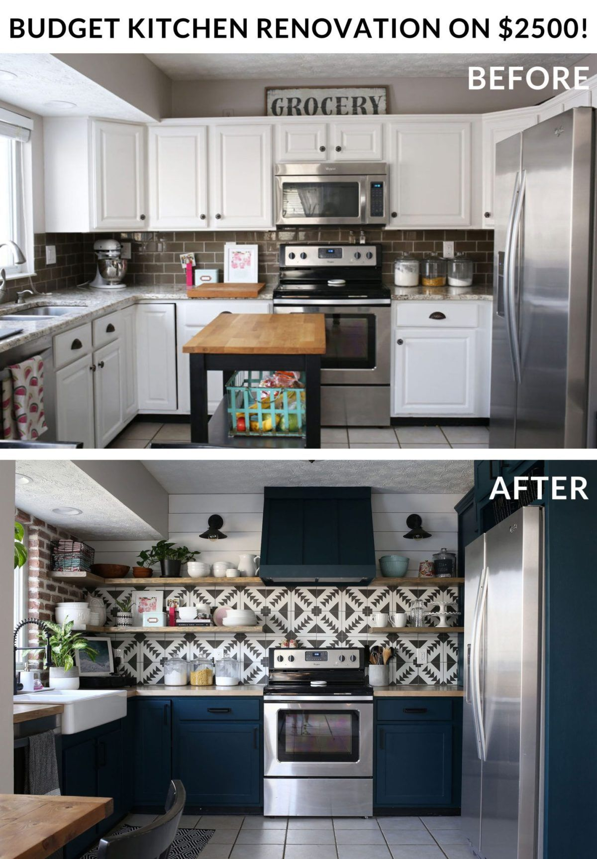 Remodeling Our Kitchen On A 2500 Budget Hazelwood Homes Budget Kitchen Remodel Kitchen Remodel Kitchen On A Budget