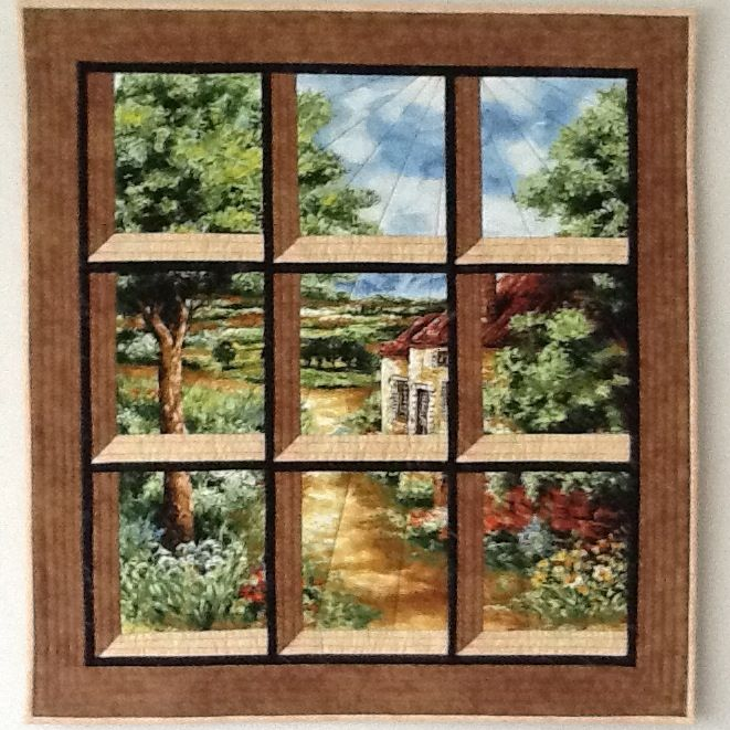Attic window by marike hoekstra quilts attic windows for Window quilt