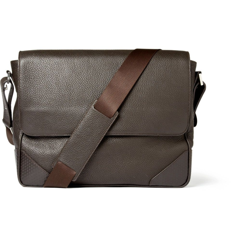 Less details attrackts more attention - Dunhill Mens Leather Messenger Bag 2ba82b367d