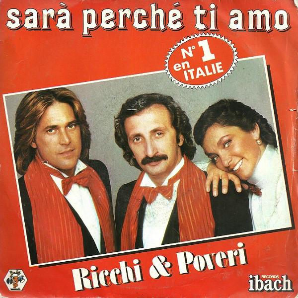 Ricchi Poveri Sara Perche Ti Amo Vinyl 7 Disco Music Italo Disco Baby Records