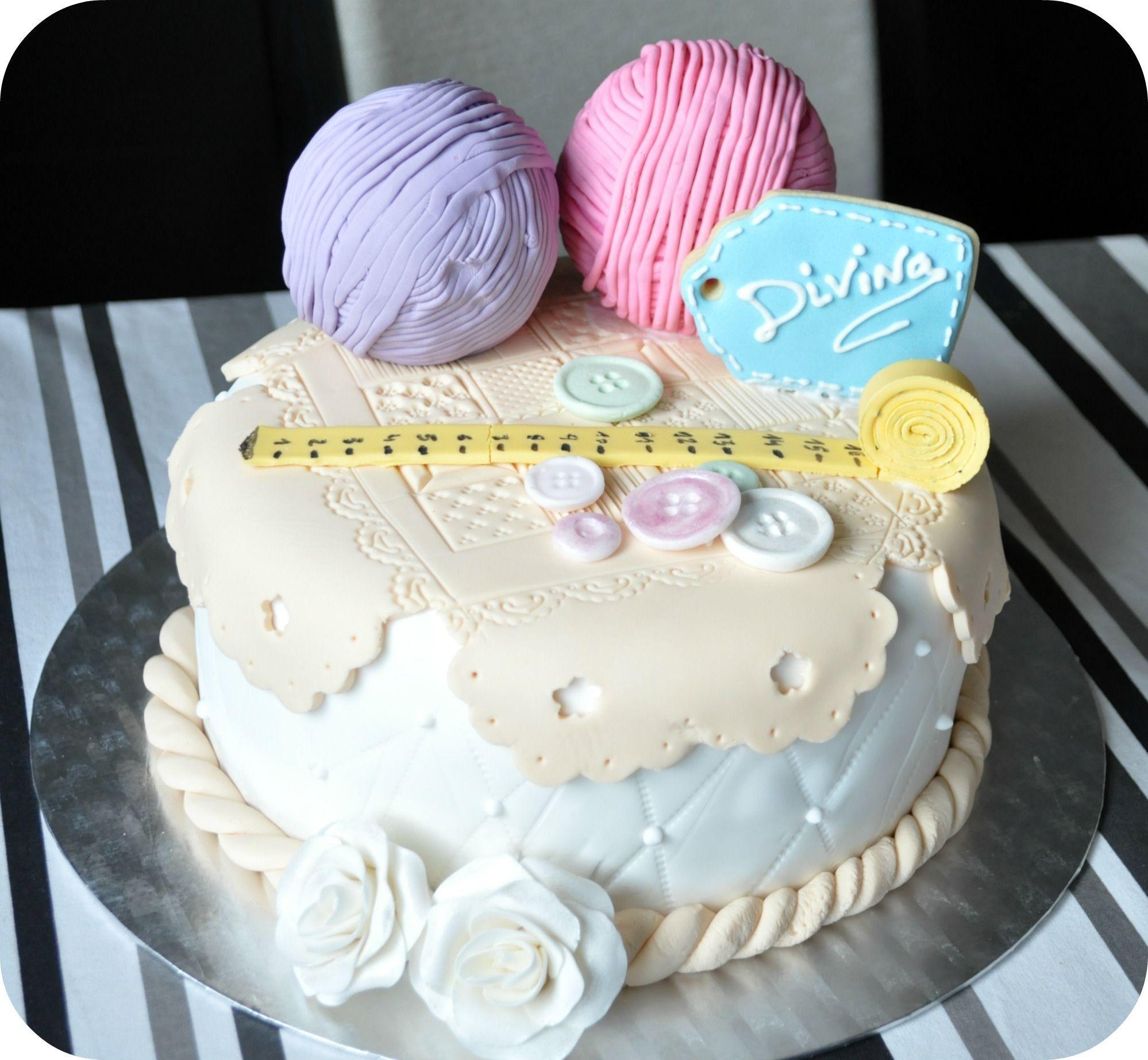 Amazing Grandma Birthday Cake Grandma Love To Corchet Great Idea For Cake Funny Birthday Cards Online Kookostrdamsfinfo
