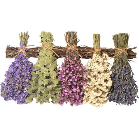 Lend a rustic touch to your kitchen or living room with this preserved lavender hanger, featuring bunches of blooms on a natural twig base.