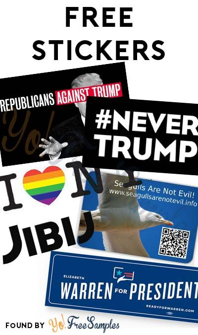 6 FREE Stickers Today: Various Liberal/Ex-GOP Stickers, Republicans Against  Trump
