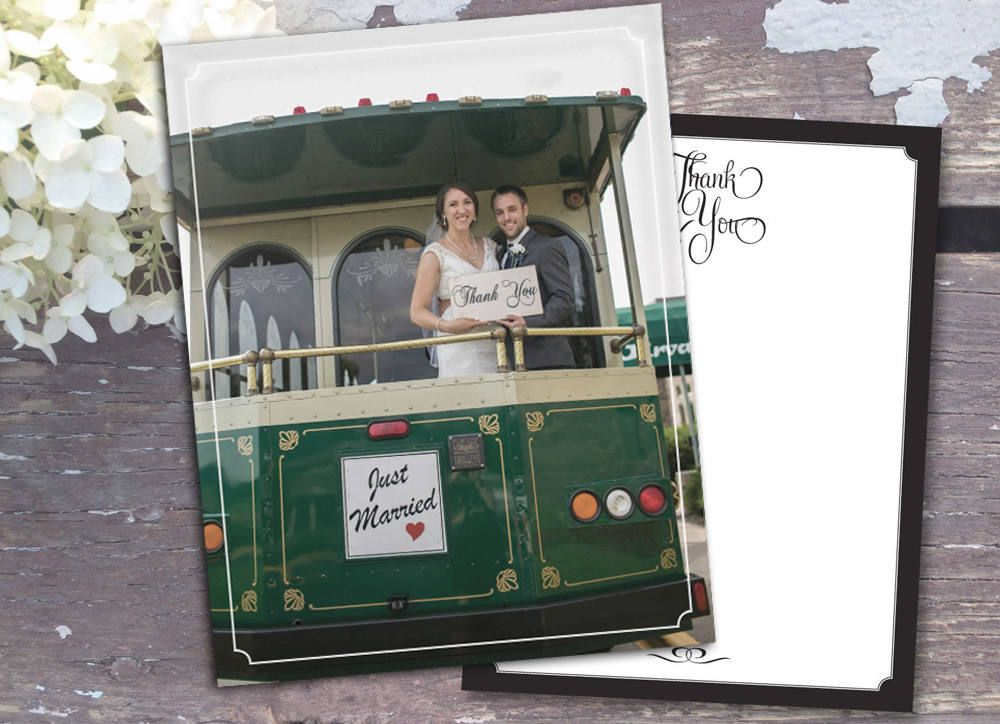 Wedding Thank You Yous Note Notes Photo Magnet Magnets Postcard