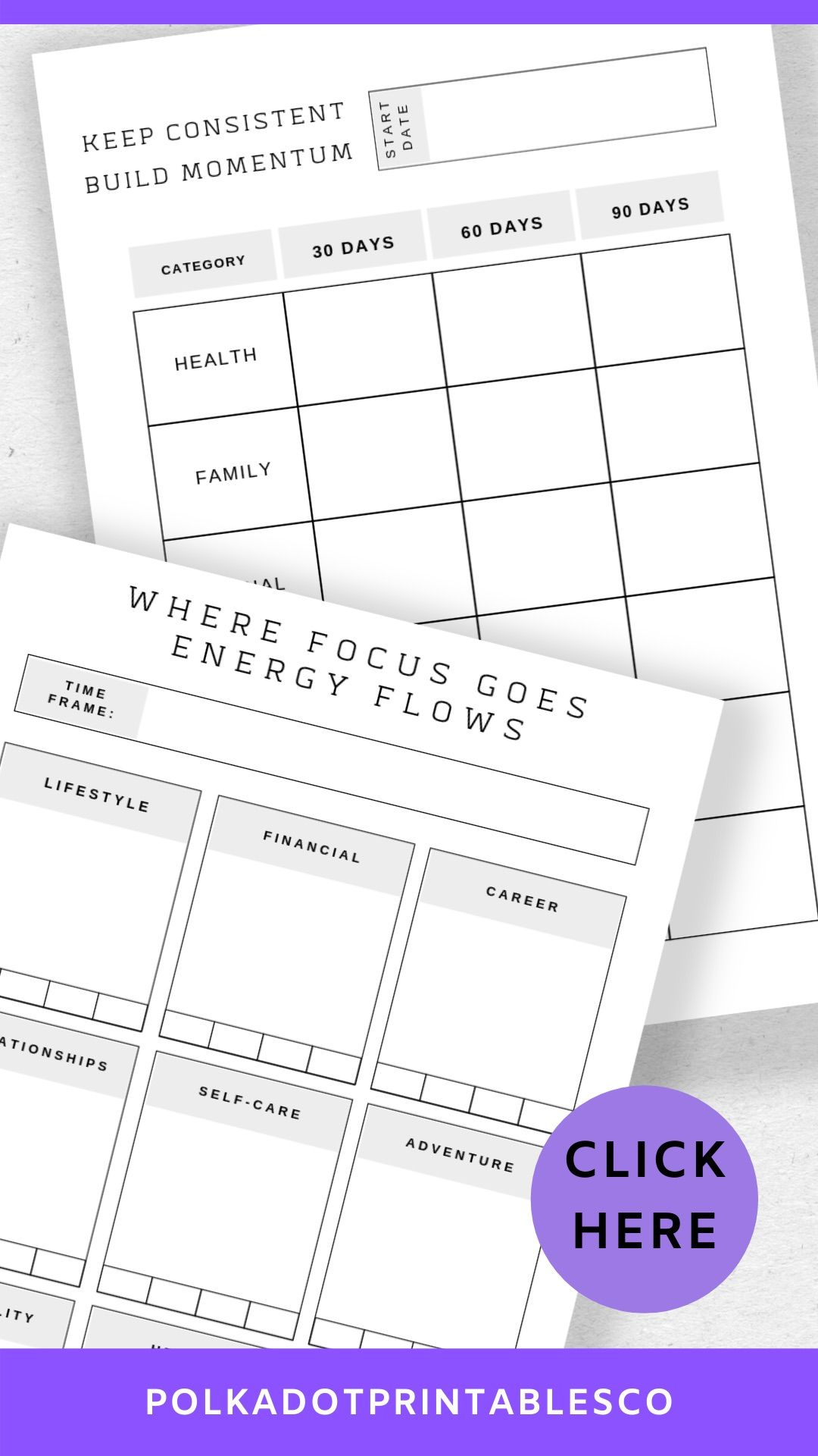 Focus on the Future Printable Planner PDF 31pages