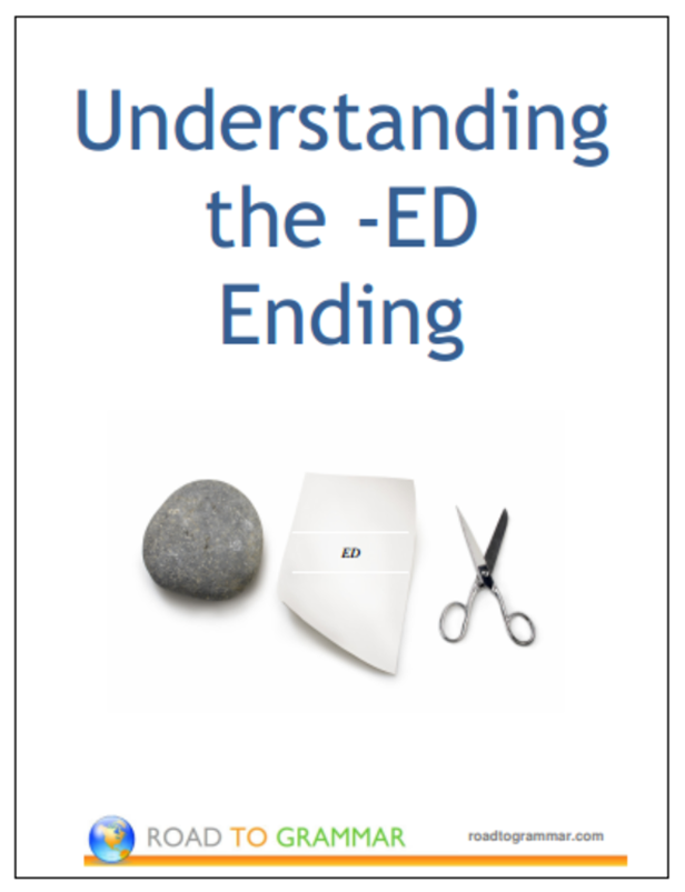 An e-booklet with notes and quizzes on the -ed word ending