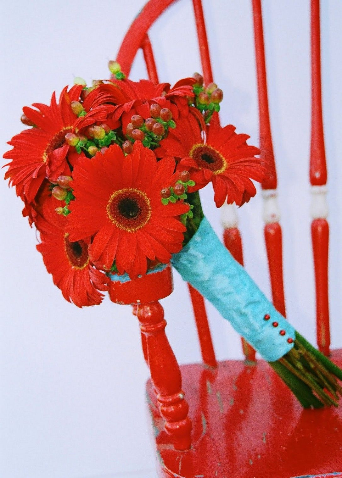 Tiffany Blue And Red Wedding Flowers | flowers | Pinterest | Red ...