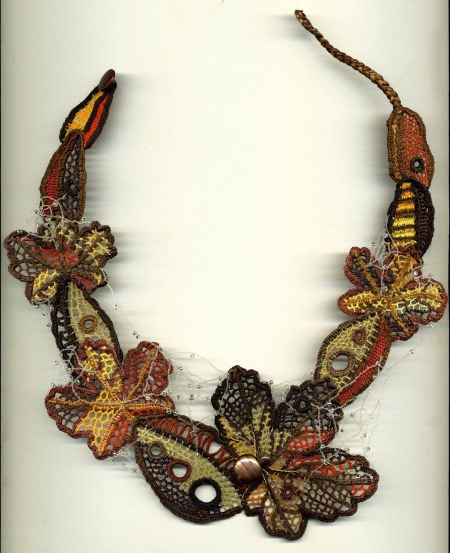 c41f885dc2741 Autumn Needle Lace Necklace by Wabbit-t3h.deviantart.com on ...