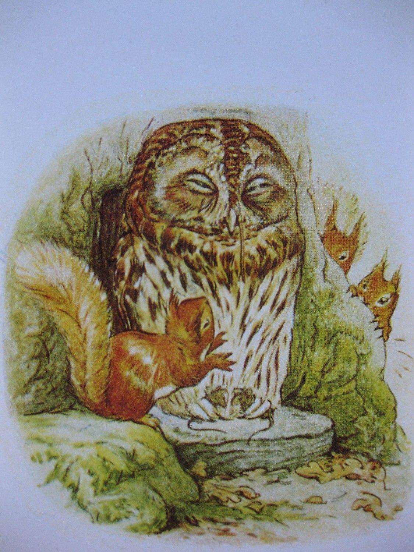 Shttttt. Quiet Sleeping Vintage Beatrix Potter