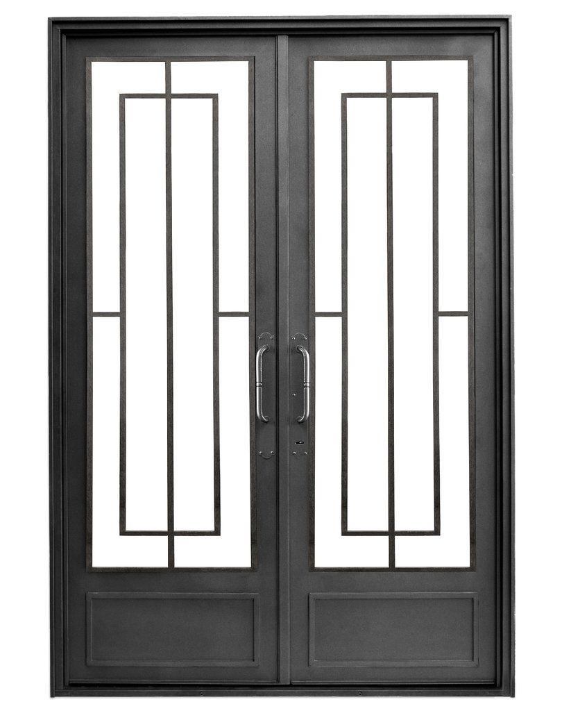 Puerta de entrada de hierro del hierro design casas for Puerta hierro exterior