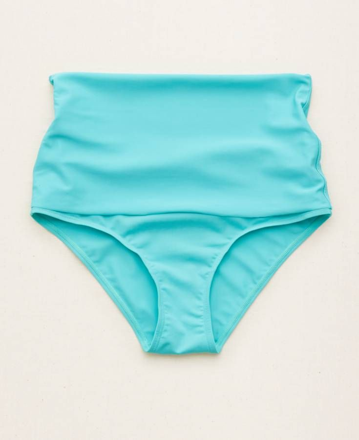 d9fe07f0bc815 Aerie Hi-Rise Foldover Bikini Bottom, Women's, Blue | *Clothing ...