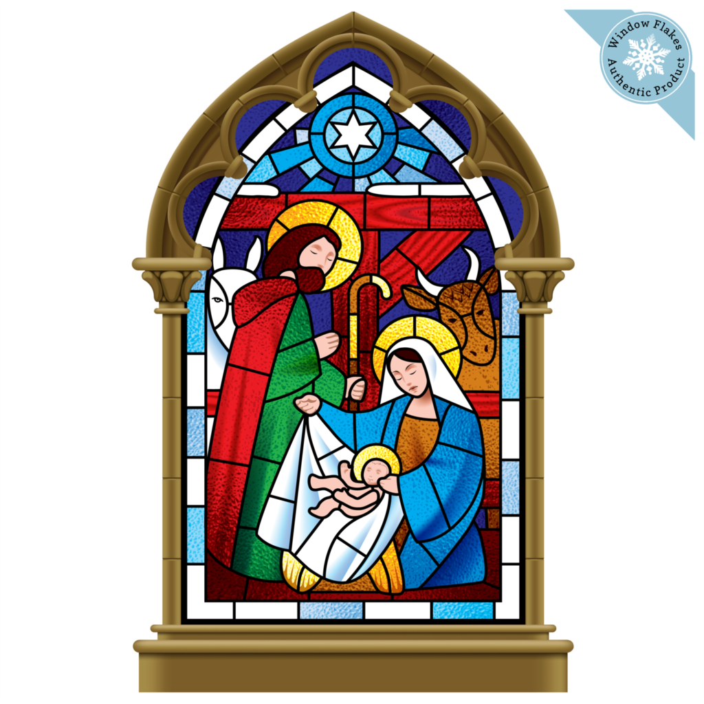 Small Stained Glass Nativity Scene Stained Glass Christmas Stained Glass Glass Art Pictures