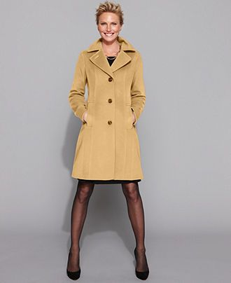 Anne Klein Coat Wool Cashmere Blend Walker Womens Coats Macy S Petite Coat Winter Fashion Coats Pea Coats Women