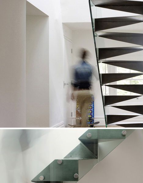 Best Folded Steel Origami Stairs London Beautiful Stairs 400 x 300