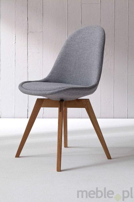 Tenzo Krzesło Nowoczesne Donna Szare Tkanina Nogi Bess