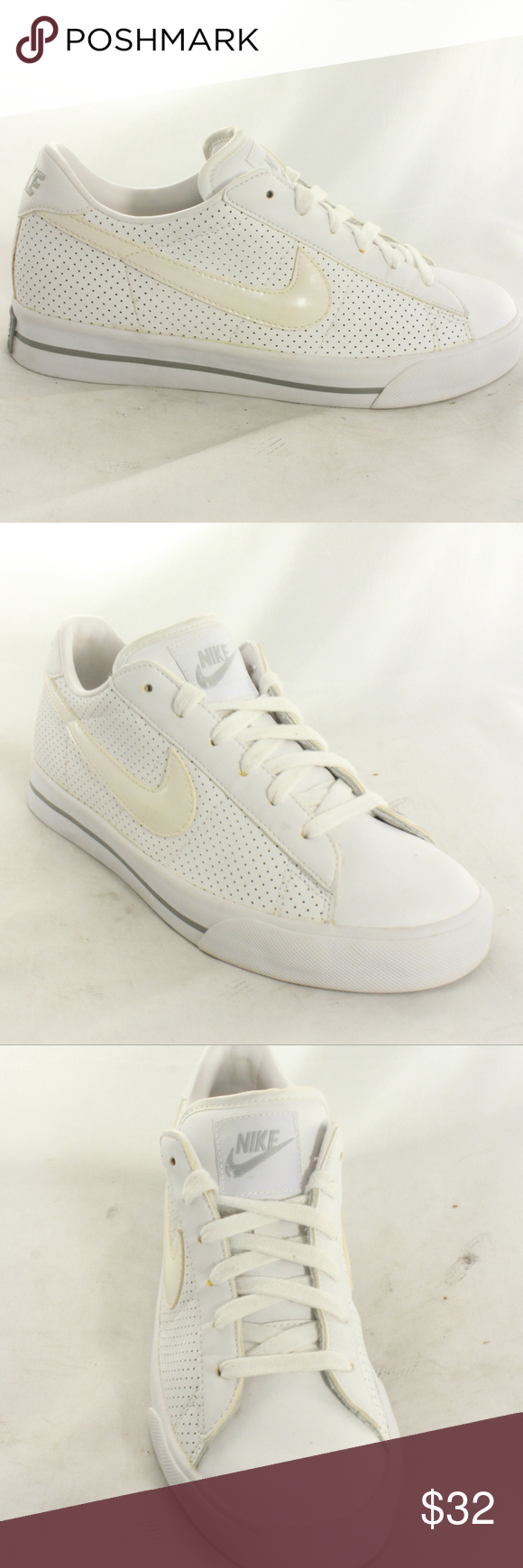 Nike Sweet Classic Leather White Gray Sneakers Classic silhouette sneakers.  Clean inside and out. f33992975