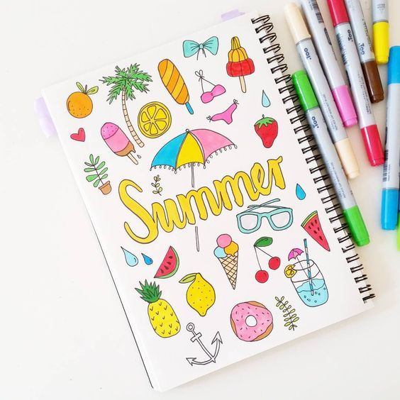 17 Superb Summer Bullet Journal Layouts To Copy!