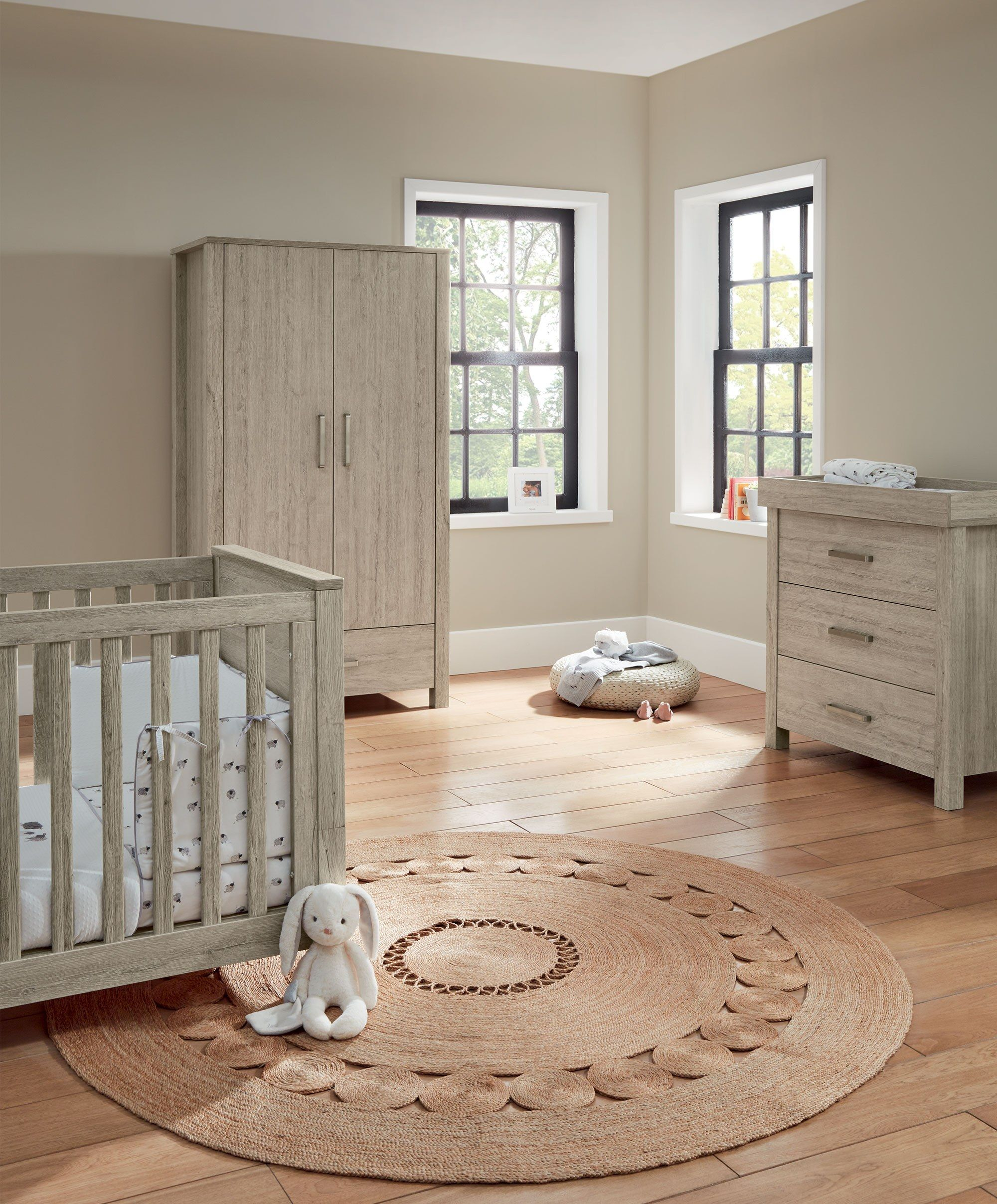 Melrose 3 Piece Nursery Furniture Set With Cot To Toddler Bed