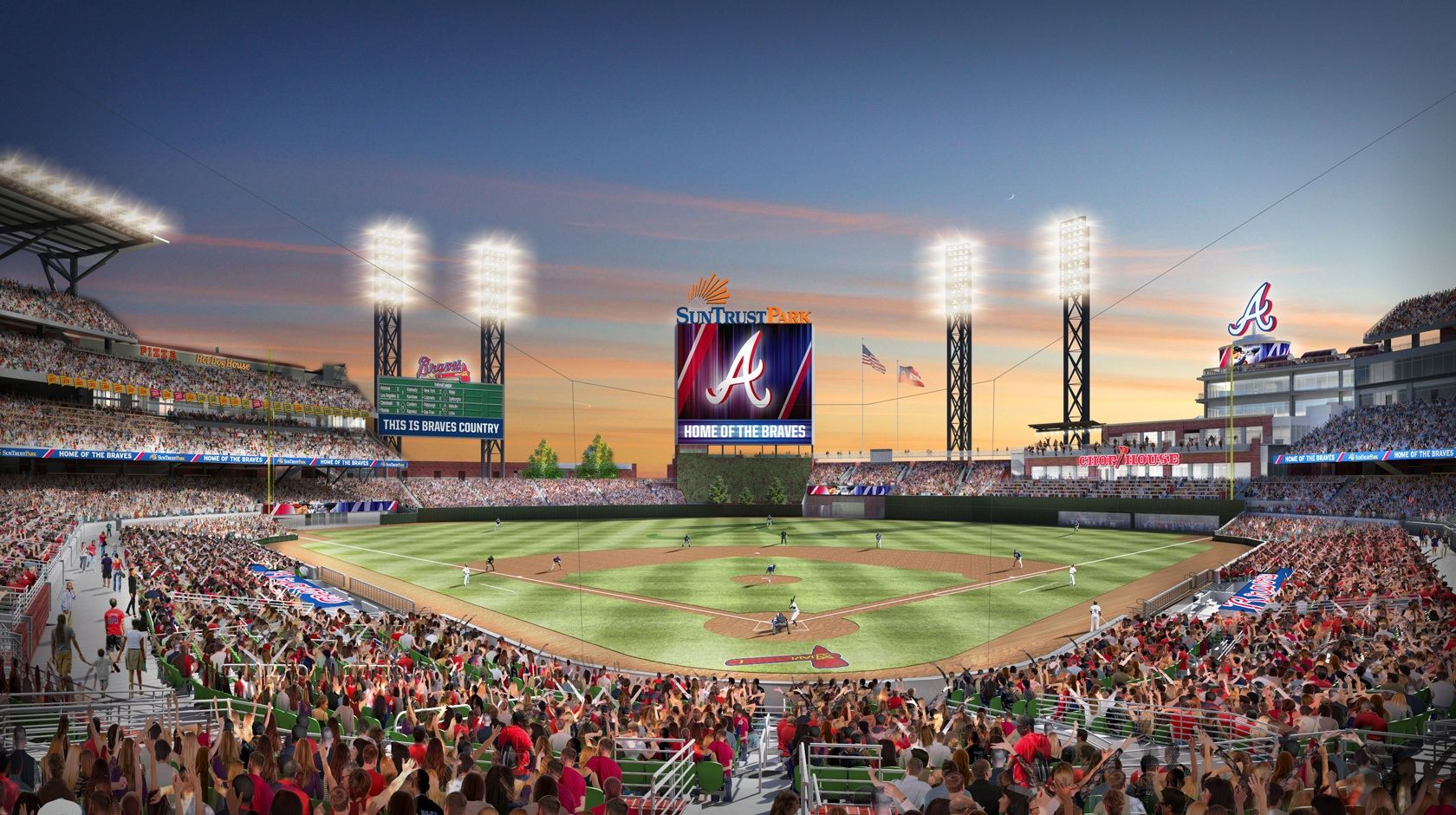 Sunset View I M Going To Miss Turner Field But Excited For The New Home Of The Braves Suntrust Park Atlanta Braves Braves